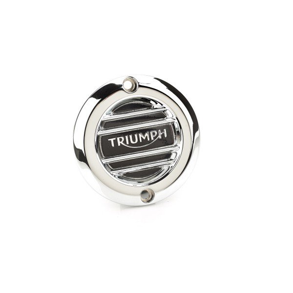Clutch Badge, Ribbed, Chrome