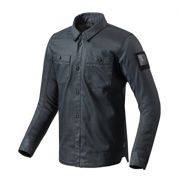 Tracer overshirt, Solid dark blue