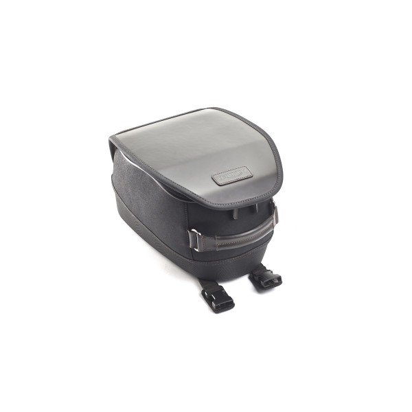 Waxed Cotton Tank Bag - Black