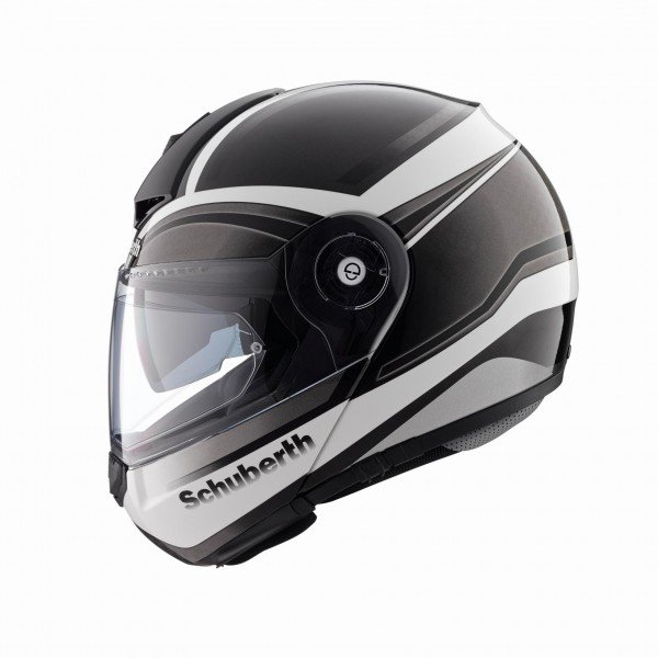 Schuberth C3pro Intensity, zwart/titanium intensity zwart
