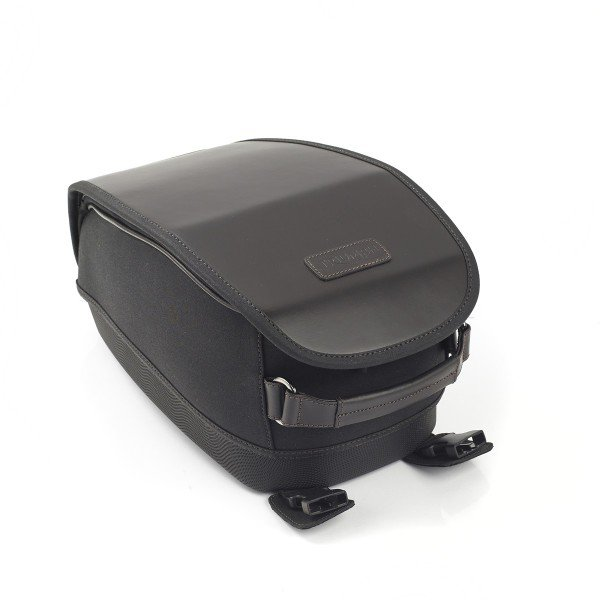 Tank Bag, Waxed, Black, Kit
