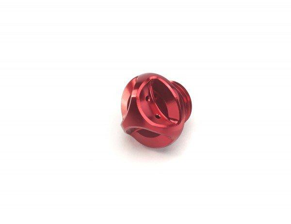 Filler Cap, Oil, Red