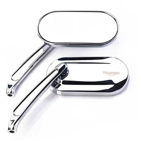 Oval Mirrors, Cast, Chrome