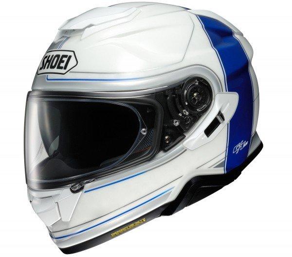 Shoei GT-air II Crossbar, white/blue