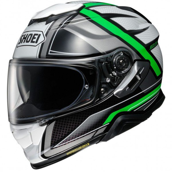 Shoei GT-air II Haste, green/silver
