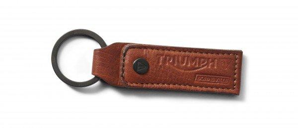 Triumph leren sleutelhanger, - mustard
