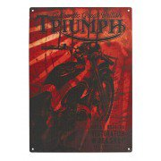 Triumph Red metal sign