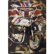 Triumph Union Jack metal sign