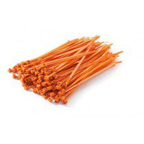 ORANGE CABLE TIES 100PK