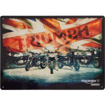 Triumph Union Jack bike metal sign